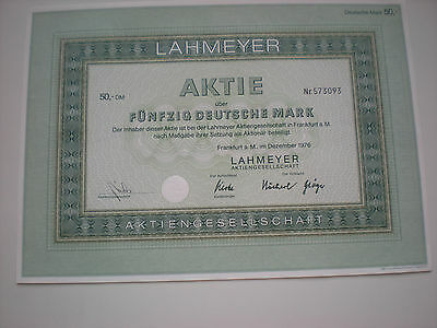 Deutschland - Lahmeyer AG, Frankfurt    1/245