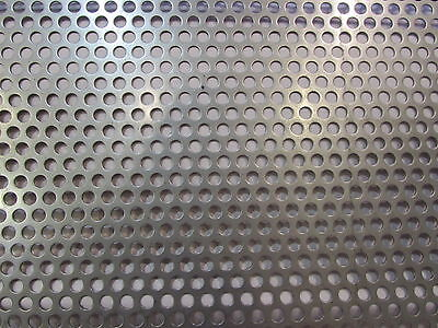 16 Ga. 304 Stainless Steel Perforated Sheet 14holes On 38 Centers 15 X 15