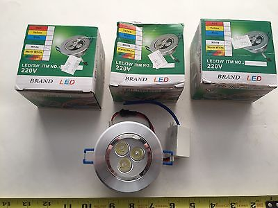 3- New-3W  Cool LED Downlight Ceiling Light Recessed Down Lamp