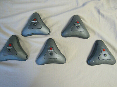 Lot Of 5 Polycom Conferencing Microphone 2201-20250-203