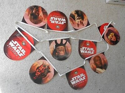 RARE Star Wars Episode I Pizza Hut advertising banner & Taco Bell window clings