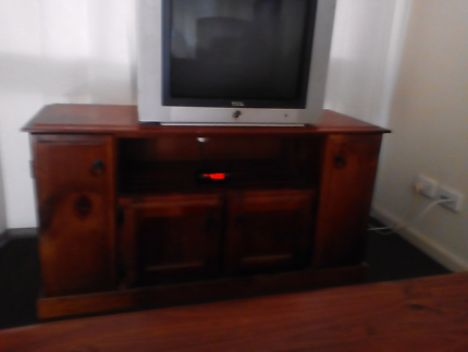 Tv unit solid wood as new