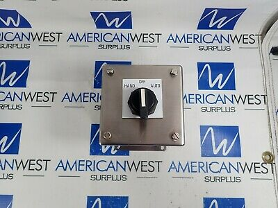 Hoffman E1pbxss 1 Hole Stainless Pushbutton Enclosure Hoa Selector Switch New