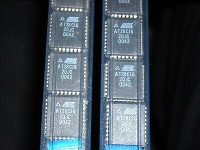 3 Pcs Atmel At28c16-20jc Ic Eeprom 16kbit 200ns 32plcc Atmel