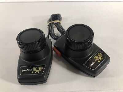 Atari 2600 Paddle Controllers, Tested Working Good Condition Cleaned