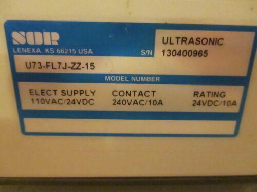SOR Ultrasonic U73-FL7J-ZZ-15 Level Sensor Transmitter