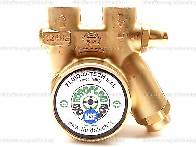 Fluid-o-tech Pbo301tnanm7740 Brass Rotary Vane Procon Pump With Relieve Valve