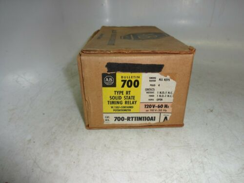 Allen-Bradley 700-RT11N110A1 RT Solid State Timing Relay 110/120 Vac