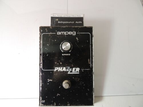 Vintage Ampeg Phazzer Phaser Phase Shifter Effects Pedal Free USA Shipping