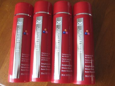 lot of 4 - Wella Color Preserve STRAIGHTENING BALM,  Alcohol Free, 6.8 oz