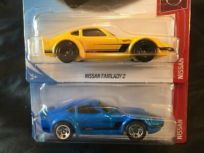 Hot Wheels 2019 RLC Factory Set Lot of 2 Nissan Fairlady Z Yellow & Blue