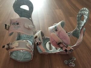 "Women's snowboard bindings ""Ride Ivy"" size M (7-11)"