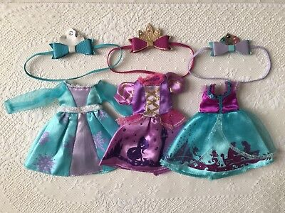 Disney Princess inspired Neo Blythe doll clothing lot with matching headbands