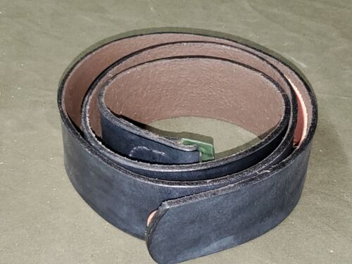 REPRODUCTION WWII German Black Leather Belt #2