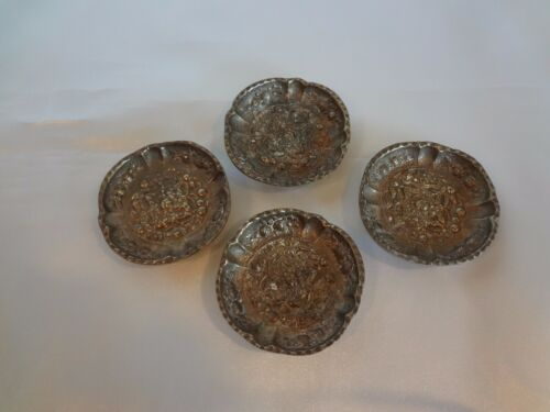 Montagnani - Set of 4 Vintage Silverplate Butter Pats - Italy
