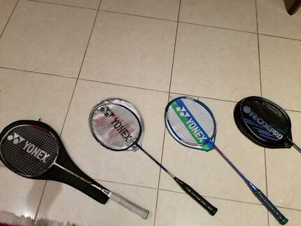 badminton rackets and shoes - very well kept.you must have a look