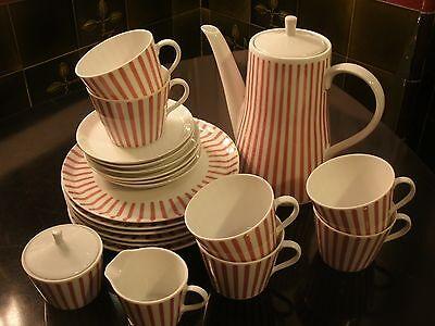 Melitta Zürich Kaffee Service für 6 Personen 50er 60er Vintage Design Rockabilly