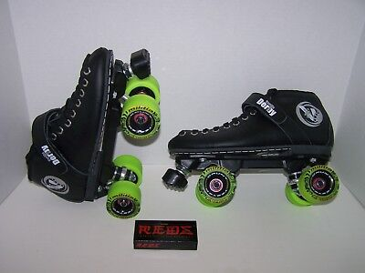 NEW VANILLA RENEGADE CUSTOM LEATHER ROLLER SKATES MENS SIZE 9 (LADIES 10)