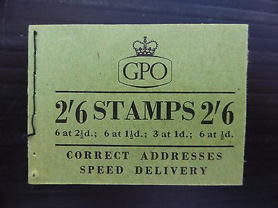 GB Wilding 1955 August 2/6 Booklet SGF33 FP9082