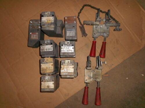 Lot of ThermOweld / IzzyWeld Molds & Handle Clamps UltraWeld  ECONOMOLDS used