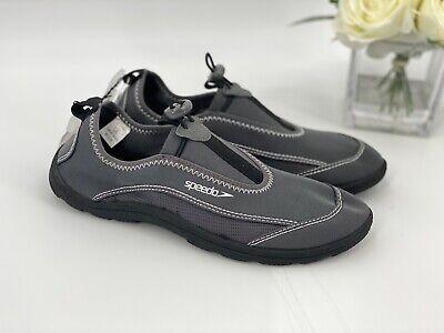 NEW Speedo Surf Walker Pro Men's Size Small 7-8 Water Shoes Gray Aqua Socks