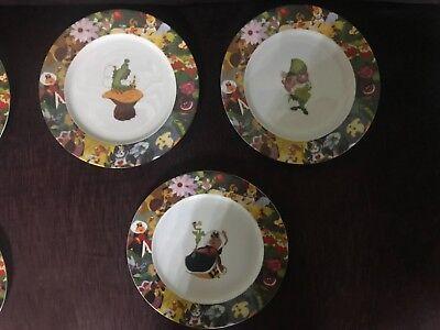 Disney Alice in Wonderland Dinnerware Set 3 Dinner plates Setting BNIB RARE](Disney Dinnerware Set)