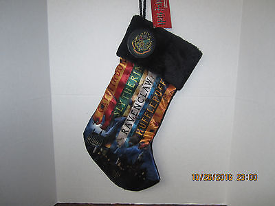 HARRY POTTER HOUSES Holiday Christmas Stocking HOGWARTS NECA 2016 NEW WITH TAGS