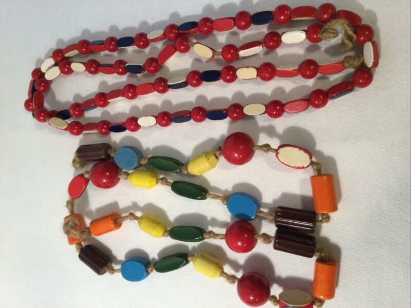 Mixed Lot of 104 Vintage Campfire Girls Wood Wooden Honor Beads Multicolor Craft