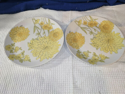 ERNESTINE SALERNO~Italy~Hand Painted~818G~Dinner Plates~Set of 2~NICE!