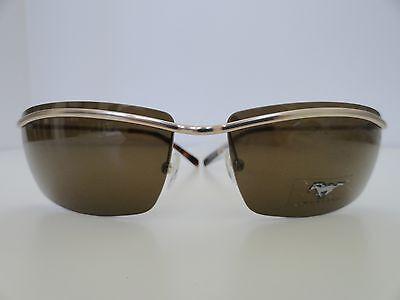 MUSTANG Gold Men Sunglasses 100%UV400 Brown Lenses-Rectangular/Tortoise (Mustang Sunglasses)