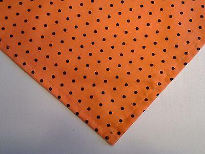 Black Dog Halloween (Dog Bandana/Scarf Tie On Halloween Orange Black Custom Made by Linda XS S M L)