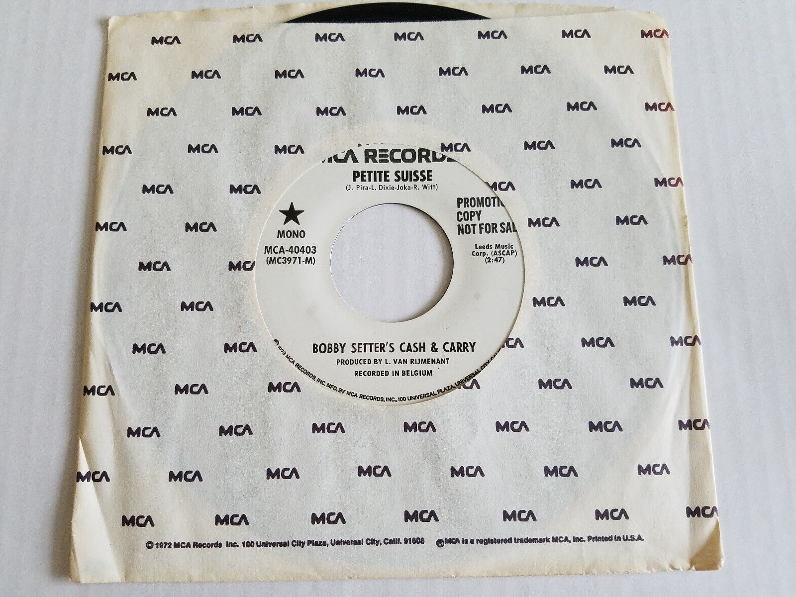 Bobby setter's cash & transporter - petite suisse 1975 synth-pop electro promo 7