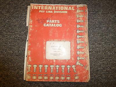 International Ih 125e Crawler Track Loader Tractor Parts Catalog Manual Book