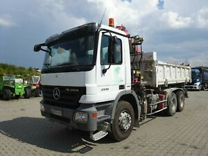 Mercedes-Benz Actros 3336 Dreiseitenkipper / Bordmatic / Kran