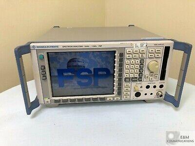 Fsp7 Rohde Schwarz Spectrum Analyzer 9khz-7ghz Options Fsp-b3 Fsp-b4 Clean