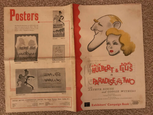 """Paradise For Two(Gaiety Girls) 1936 United Artists 12x16"""" British pressbook"""
