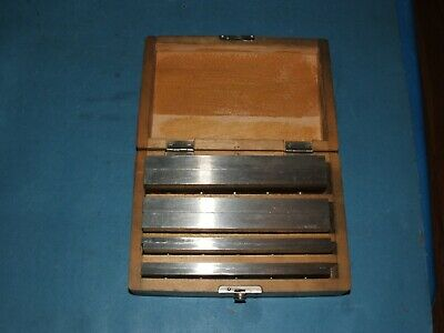 Machinist Parallel Set Precision Hardened And Ground In Wooden Box Look
