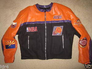 Phoenix-Suns-NBA-Jeff-Hamilton-Motorcycle-Cycle-Jacket-2XL-2X-mens