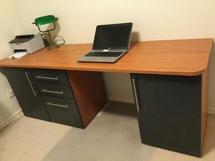 Home Office Desk With Cupboards And Filing Cabinets