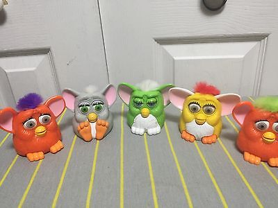 Lot of 5 McDonald Furbies Happy Meal Toys Pre-owned