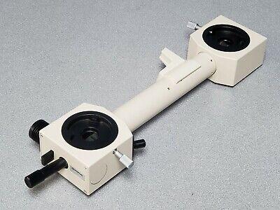 Olympus Bh Microscope Dual Head Observation Teaching Splitter Tube Adapter