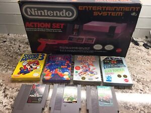 Nintendo nes action set entertainment system with games