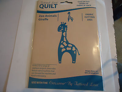 New Tattered Lace Quilt Zoo Animals Giraffe Fabric Cutting Die