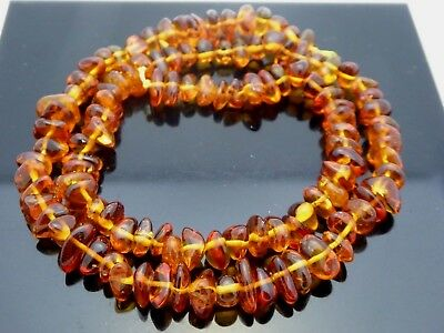 Natural Genuine Baltic Amber  Nugget Freeform Untreated Gemstone Bead Strand 16""