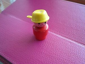 Fisher-Price-Little-People-Play-family-grumpy-red-boy-yellow-hat-all-wood-bus