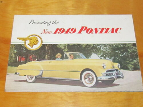 Rare 1949 Pontiac Dealership Brochure Catalog Manual original.
