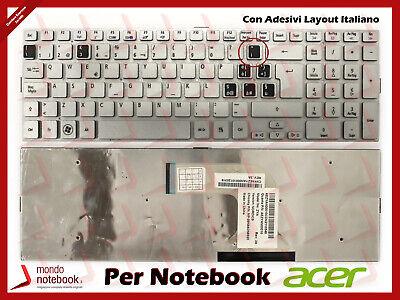 Tastiera Notebook ACER Aspire 5943G 8943G 8950G (SILVER) con Adesivi Layout ITAL