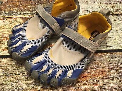 Vibram Five Fingers M349 Barefoot Sport Water Shoes Men's Size 41 EUC Blue/Gray