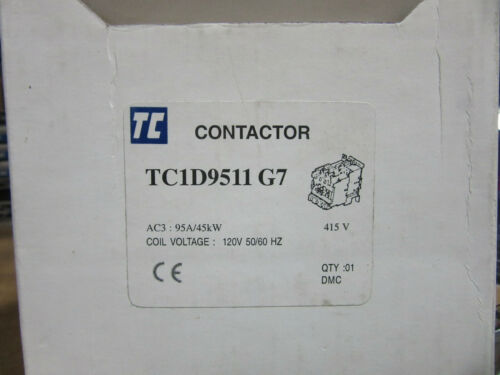 Shamrock TC1-D9511-G7 Contactor 3P 95A 120VAC Aux. Built-in 1 NO / 1 NC NEW!!!
