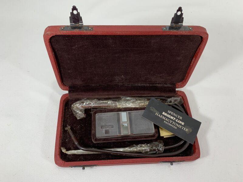 Antique Vintage Medical Surgical Bright Line Hemacytometer Pathology Blood Kit
